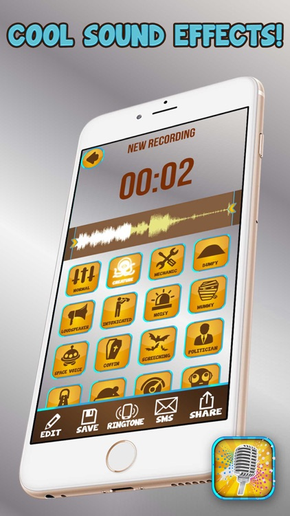 Voice Changer Audio Effects – Funny Sound Recorder Editor and Ringtone Maker screenshot-3