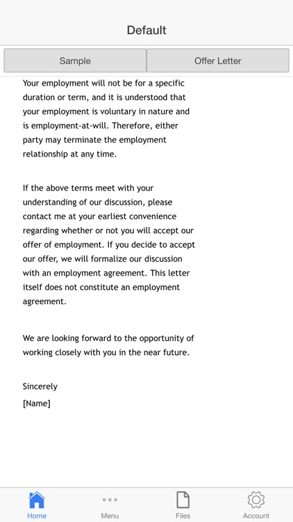 Job Offer Letter screenshot-2