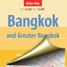 Bangkok and Greater Bangkok. Tourist map.