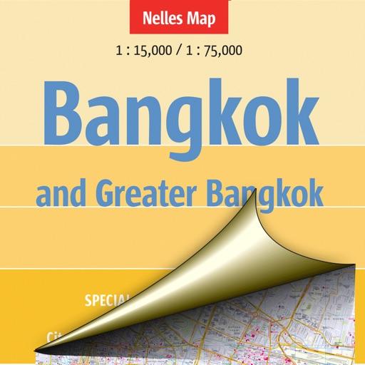 Bangkok and Greater Bangkok. Tourist map.