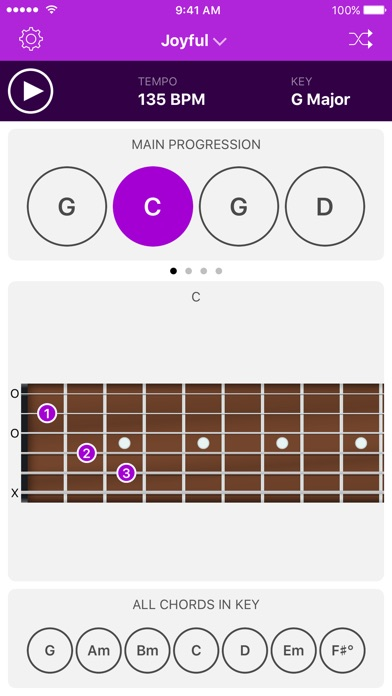 Autochords - Chord Progression Generator for guitar