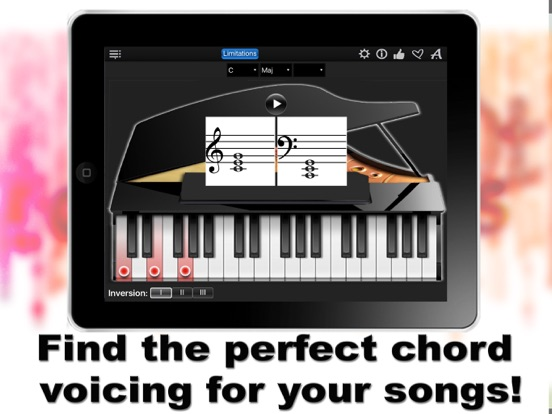 Piano Chords Compass Lite Learn The Chord Notes Play Them App