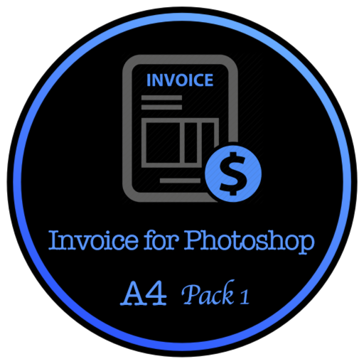 Invoice for Photoshop - Package One for A4 Size