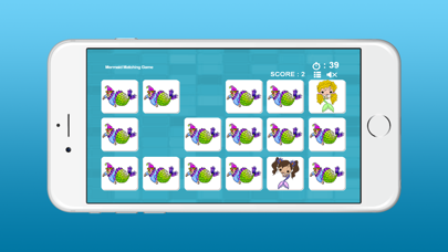 Mermaid Matching Pictures Game for Kids Screenshot on iOS