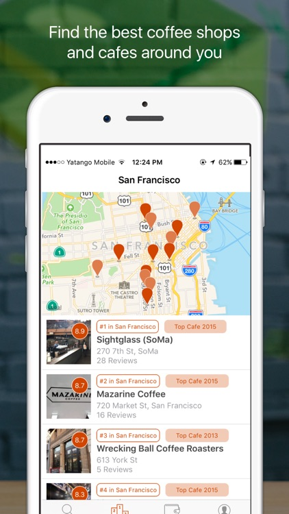 Beanhunter - Find and share great coffee. screenshot-0