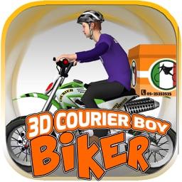3D Courier Boy Biker