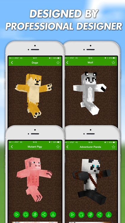 Animal Skins For Minecraft PE (Pocket Edition) Free