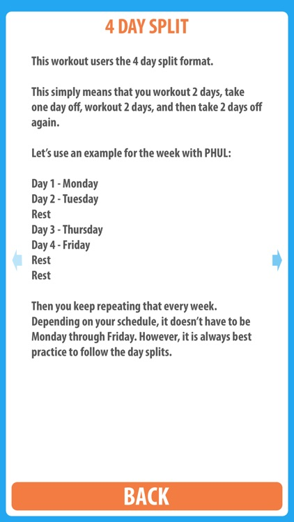 PHUL - The 4 day split workout designed for building muscle and making gains screenshot-3