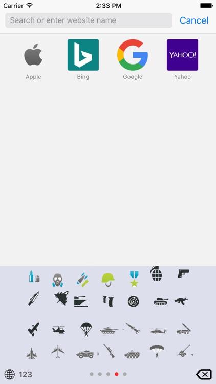 Military Emoji Keyboard screenshot-3