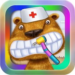 Dentist:Pet Hospital-Animal Doctor Office:Fun Kids Teeth Games for Boys & Girls.