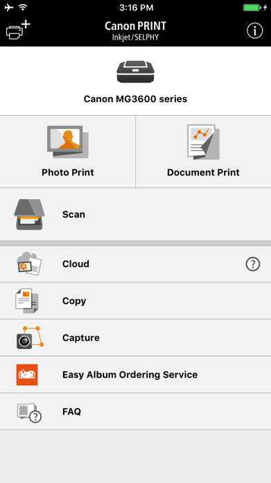 Canon PRINT Inkjet/SELPHY Screenshot