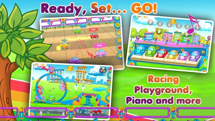 Rainbow Cars - Kids Learn COLORS through Fun Games screenshot-3