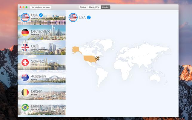 VPN Tracker World Connect Screenshot