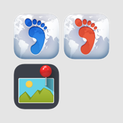 Where I've Been Series App Bundle, Footprint, Places Bookmark, Photo Journal
