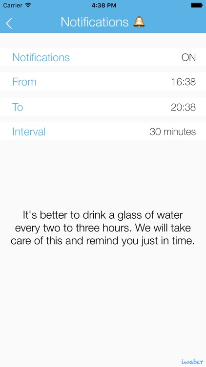 iwater LITE | Hydration daily tracker and drink water reminder for your body balance screenshot-3