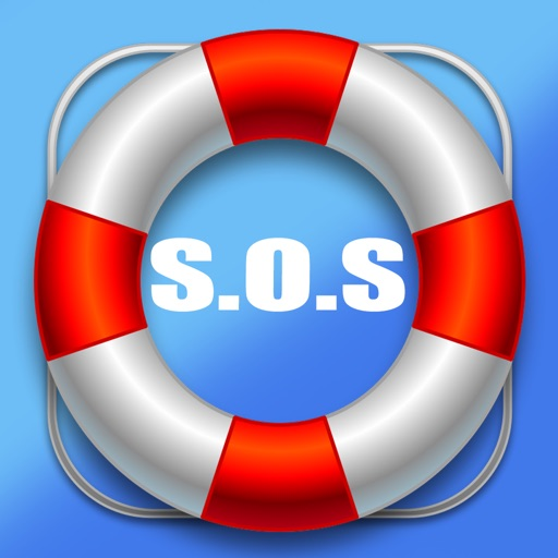 Sea rescue - Call for help at sea with your gps location icon