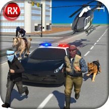 Police Chase Squad Cops: Bank Robbery Escape Counter Operation with Police Dog, Horse, Eagle, Car & Helicopter