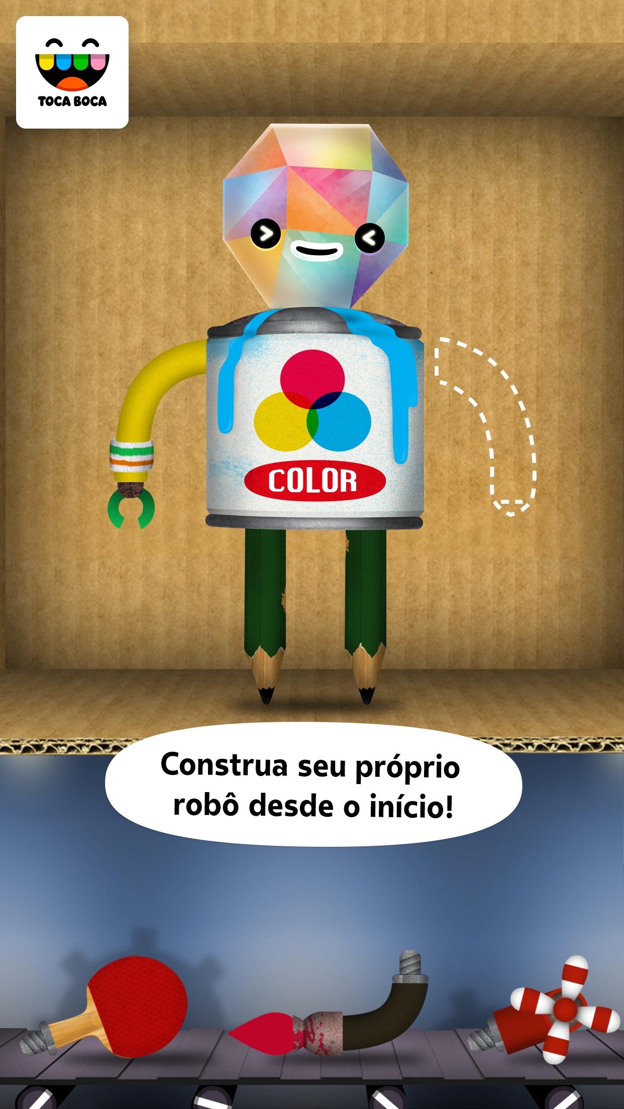 Screenshot do app Toca Robot Lab