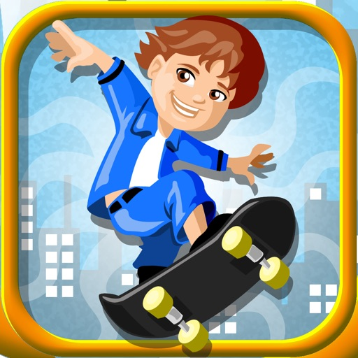 A Crazy Skater Boy - Extreme Skateboard Stunts Edition iOS App