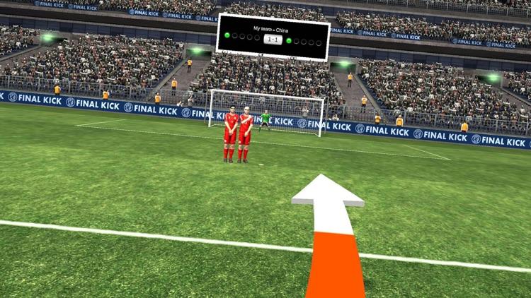 Final Kick VR - Virtual Reality free soccer game for Google Cardboard