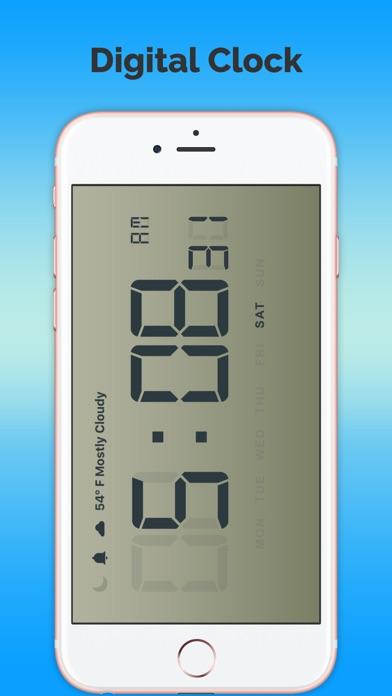 數字預報時鐘免費屏幕截圖1