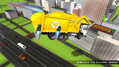 Real Garbage Truck Flying 3D Simulator – Driving Trash Trucker in City screenshot two