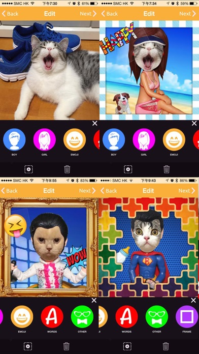 Bobblehead - Emoji Fun Stickers, Photo Frames Borders, Face Swap Mask screenshot one