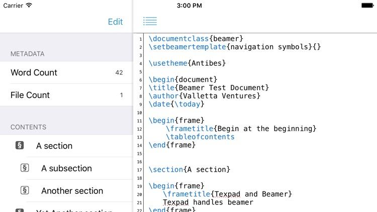 Texpad : LaTeX editor screenshot-3