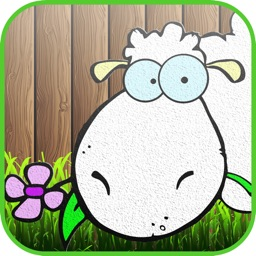 Tiny Sheep Farm Coloring Book : Color Your pages and Paint the Animals of the Farm Drawing and Painting Games for Kids