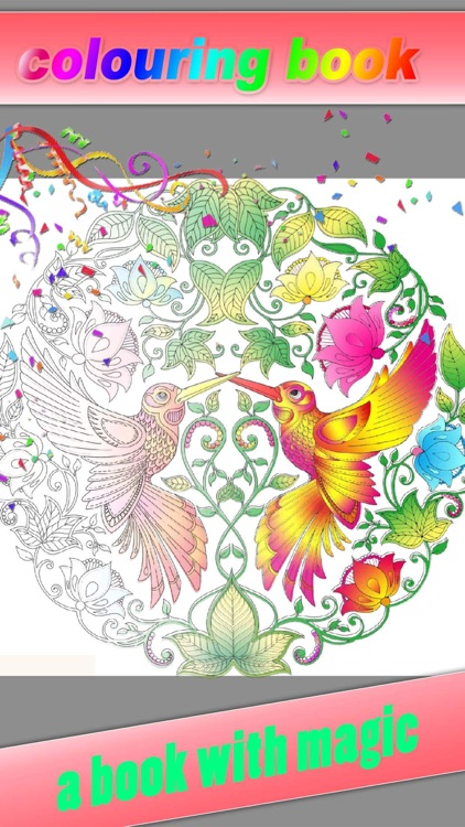 Coloring Book - Color Therapy Pages & Stress Relief Coloring Book for both Kids and Adults