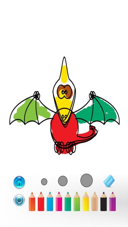 Dinosaurs Coloring Book - magic finger for kid games screenshot-0