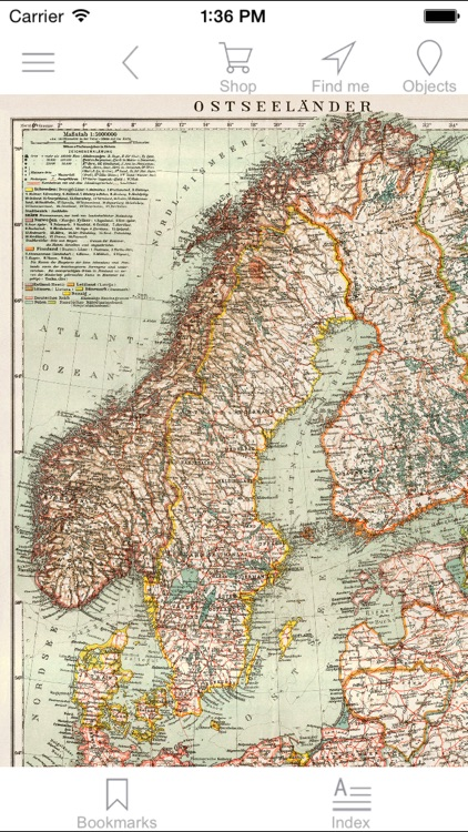 Baltic region (1929). Historical map.
