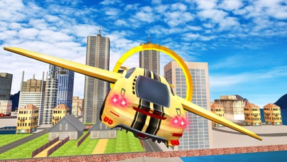 Futuristic Flying Car Drive 3D - Extreme Car Driving Simulator with Muscle Car & Airplane Flight Pilot FREEのおすすめ画像2