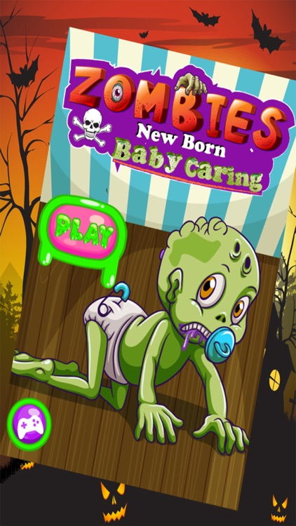 Zombies New Born Baby Caring - A New Baby Care & Dress Up Zombie Game