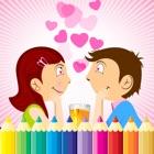 情人节图画书 - 所有在1绘画,油漆颜色游戏高清对于好孩子 icon