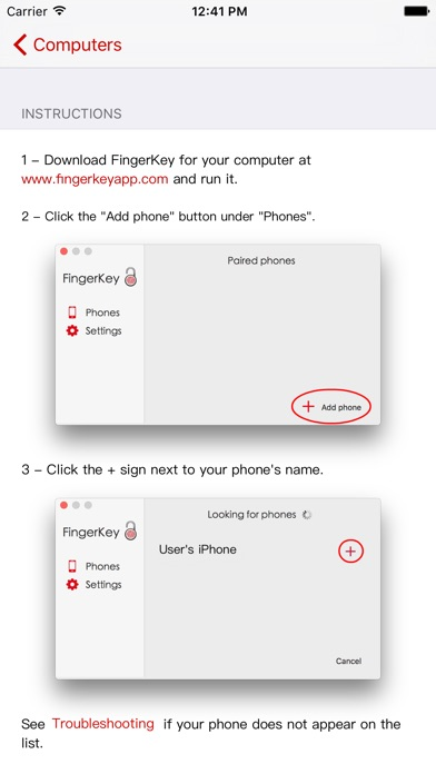 FingerKey Screenshot