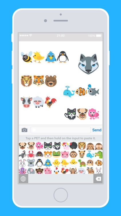 PET EMOJI - Pets Dogs Cats Birds Monkeys Lions Tigers Bears Pro Keyboard