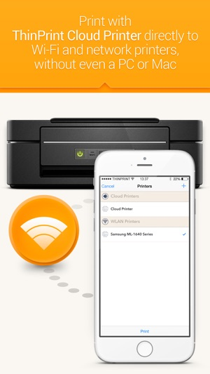 ThinPrint Cloud Printer – Print directly via WiFi / WLAN or