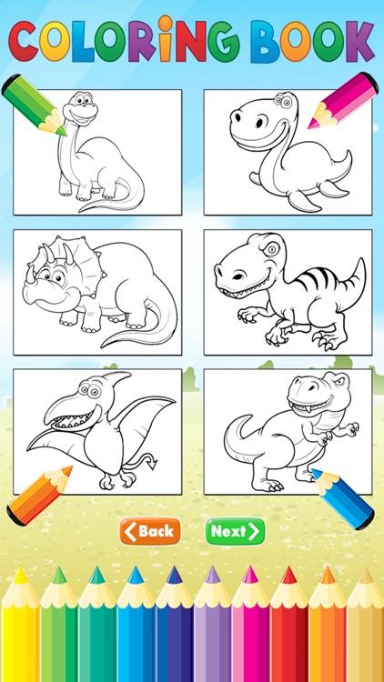 Dinosaur Dragon Coloring Book Dino Drawing For Kid Free Animal