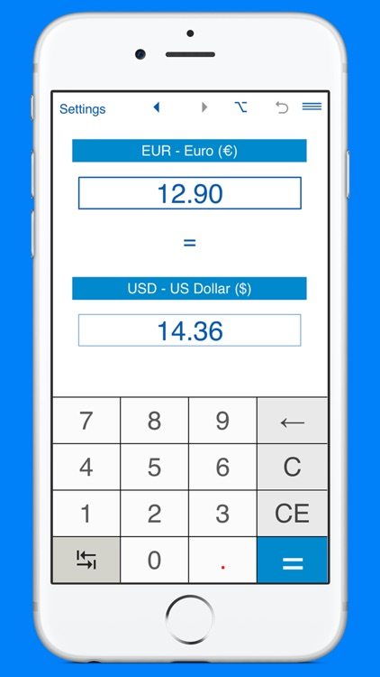 US Dollars to Euros and EUR to USD converter screenshot-0