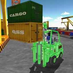 Forklift Cargo Crane Challenge 3D - Extreme Cargo Forklift Challenge 3D