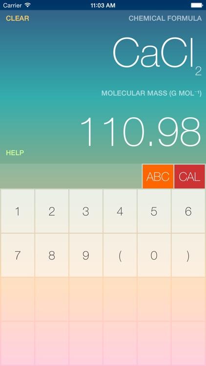 ChemCalc for Phone screenshot-0
