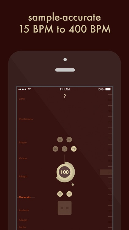 Ticker — Sample-accurate metronome with tempo presets and beatmatch screenshot-0