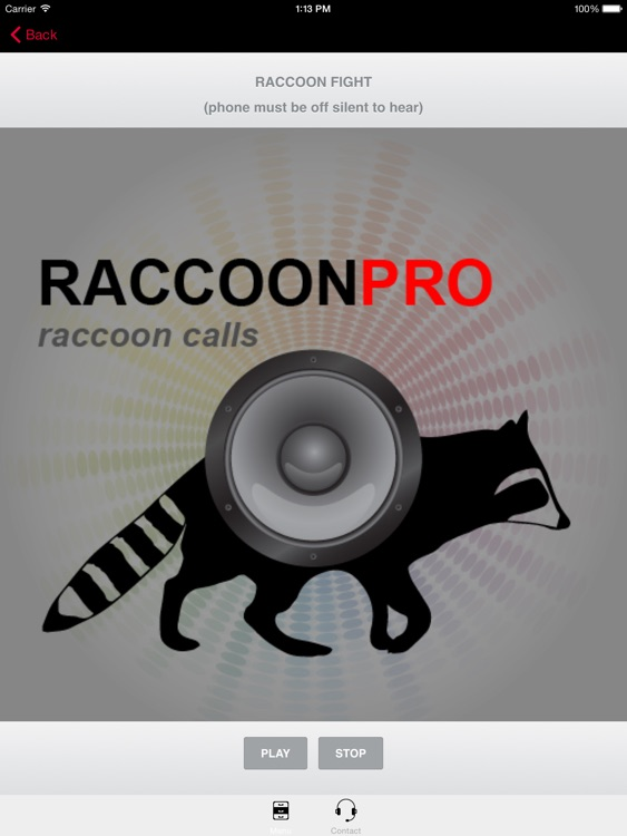 REAL Raccoon Calls & Raccoon Sounds for Raccoon Hunting -- (ad free) BLUETOOTH COMPATIBLE screenshot-0