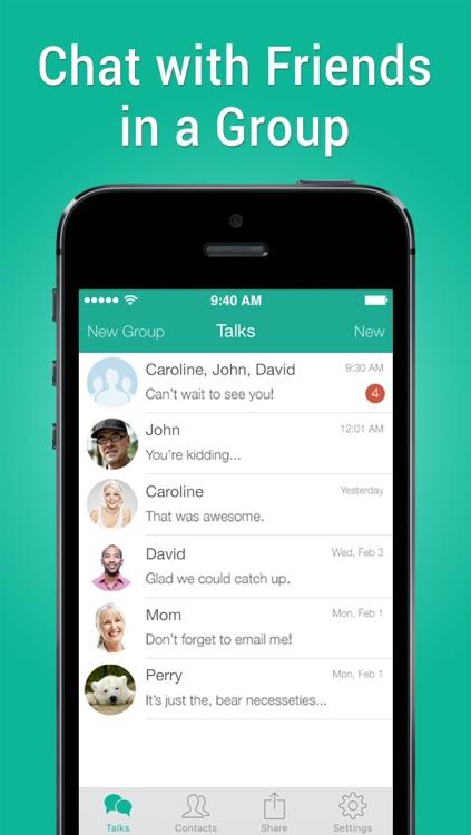 Talkray - Free Call and Texts Live Messenger screenshot-3