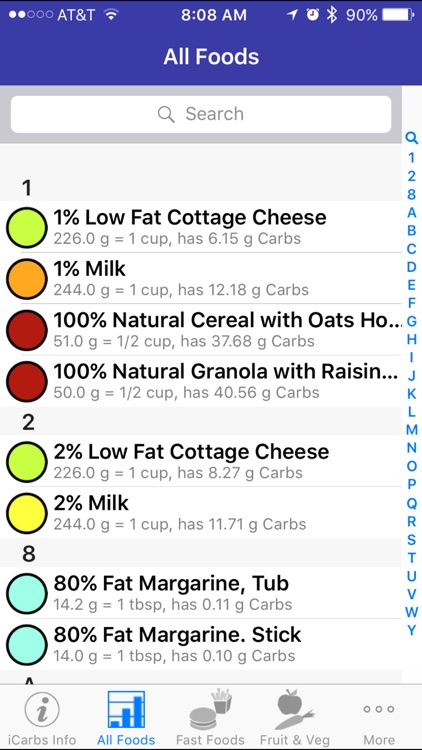 iCarbs - iNutrient: Carbohydrates screenshot-2