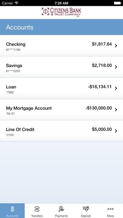 Citizens Bank & Trust Company Mobile App