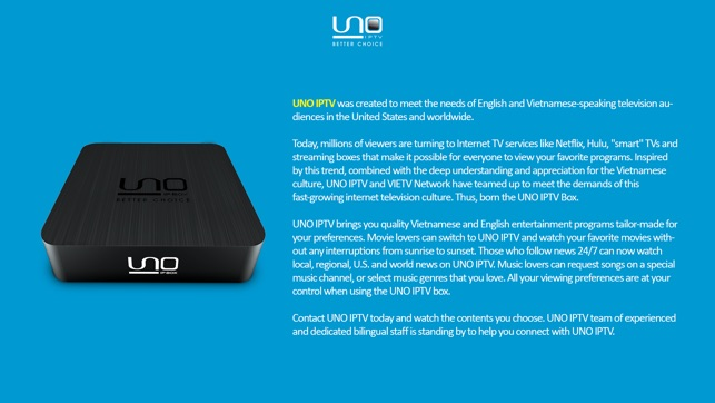 UNO IPTV for AppleTV on the App Store