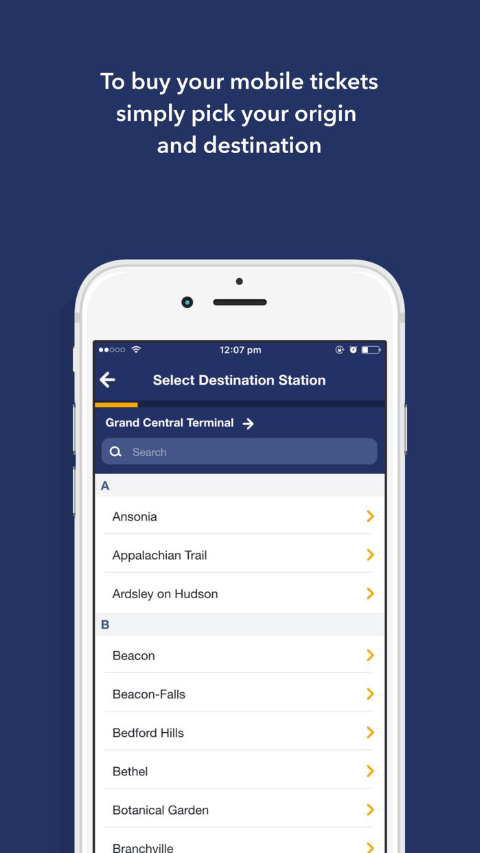 MTA eTix Screenshot