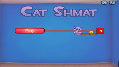 Cat Shmat - Cut the rope like Action Physics Puzzle Game screenshot four